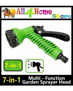 7 Function Garden Spray Hose Nozzle Water Sprayer Hoselock Gun Soft Grip