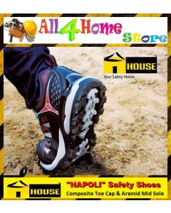 """HOUSE"" NAPOLI Safety Shoes c/w Composite Toe Cap & Aramid Mid Sole"