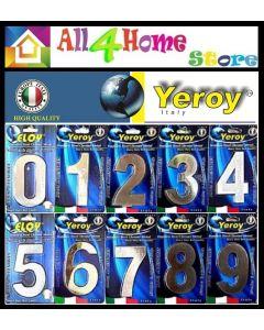YEROY Number & Alphabet plate stainless steel chrome metal /pc // Nombor Rumah / Huruf Rumah / Door Accessories