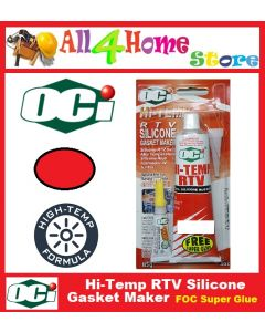 85g OCI Hi-Temp RTV Silicone Gasket Maker - RED