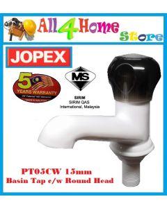 JOPEX 15mm Pillar Tap Round Handle PT05CW ~BASIN TAP