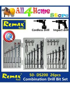 JB-B 50- DS200 26Pcs REMAX Pvc Box Combination Drill Bits Set