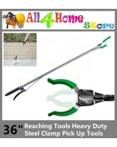 "36"" Reaching Tool Heavy Duty Steel Clamp Pick Up Tool"