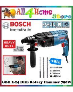 Bosch GBH 2-24 DRE Professional Rotary Hammer c/w 3pcs BOSCH SDS Drill Bits