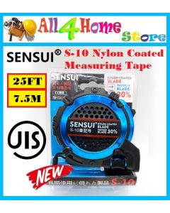 SENSUI 7.5m 25Ft Rotary Bearing Measuring Tape Nylon Coated Blade