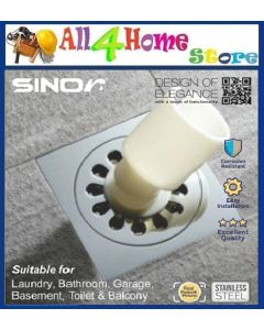 SINOR SD-417-6 STAINLESS STEEL DEODARIZE FLOOR GRATING WITH WASHING MACHINE CONNECTOR