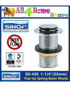 "1-1/4""(32mm)  SINOR Pop Up Spring Basin Waste"