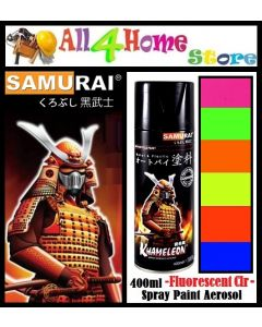 SAMURAI Spray Paint Fluorescent Pink-Green-Orange-Yellow-Red-Blue