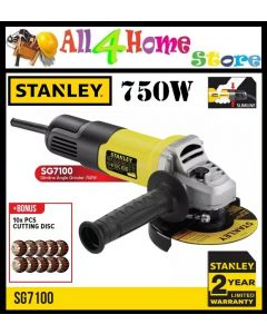 STANLEY SG7100 Slim Body Small Angle Grinder 750W 100mm [ STGS6100 Replacement ]