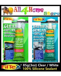 85g (3oz) FILTEX 100% RTV Silicone Sealant