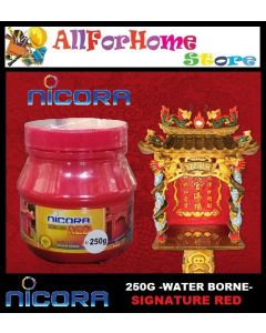 250G NICORA Signature Red (Water Borne) for  Prayer house / God house