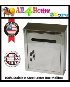 100% Stainless Steel Mailbox Letter Box