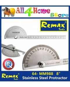 "64- MM988 8"" REMAX Stainless Steel Protractor"