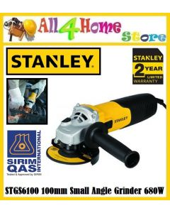 STANLEY STGS6100 100mm Small Angle Grinder 680W 11000rpm ( STGS6100 )