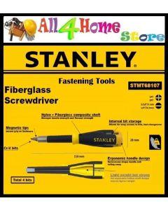 """Stanley STMT68107 Fiberglass Multi-Bit Screwdriver- 1/4"""""""" Standard Bit"""