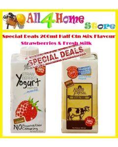 SPECIAL DEALS FARM FRESH UHT MIX - 12* 200ML YOUGURT & MILK