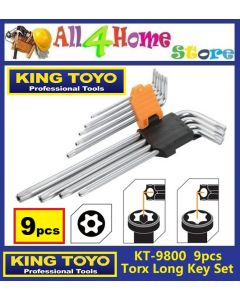 9pcs KT-9800 KINGTOYO Torx Extra-Long Key Set