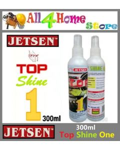 300ml JETSEN Top Shine One Engine Cover Plastic Cover Tyre Leather Pvc Dashboard KILAT