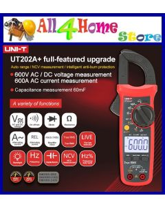 UT202A (UNI-T Original) 400-600A digital clamp meter; automatic range true RMS high precision multimeter
