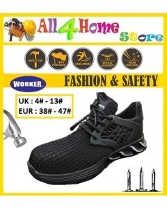 """W889 """"WORKER"""" Men Labor  Safety Shoes Sports Breathable Anti-smashing Stab-resistant Working Shoes"""