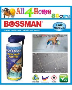 400ml BWS400 BOSSMAN Aerosol Water Proof Solution Spray Water Stop Water Repellent Nano Spray