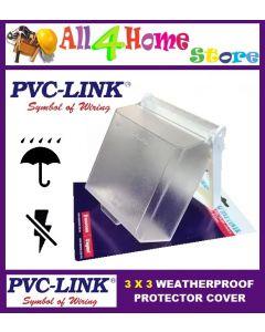 PVC LINK Outdoor Socket Enclosure / Weatherproof Protective Cover