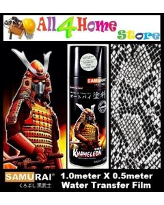 WFZ029**Black Snake Skin SAMURAI Water Transfer film c/w WF05*** Activator of Water Transfer Film Aerosol Spray