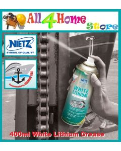 400ml NIETZ White Lithium Grease Metal Use Heavy Duty Lubrication