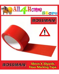 "48mm x 30yards ""BOSSMAN"" Red Floor Warning Tape"