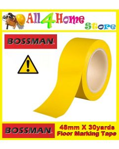 "48mm x 30yards ""BOSSMAN"" Yellow Floor Warning Tape"