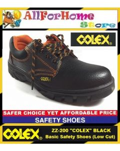 ZZ 200 COLEX Basic Safety Shoes (Low Cut) ~ Black (economic type)